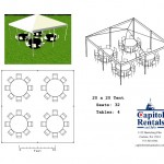 20′ x 20′ Tent Layout Click to Enlarge