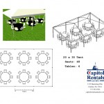 20′ x 30′ Tent Layout Click to Enlarge