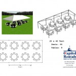 20′ x 40′ Tent Layout Click to Enlarge