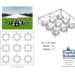 30′ x 30′ Tent Layout Click to Enlarge