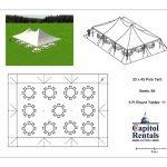 Pole Tent 30x45