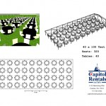 40′ x 100′ Tent Layout Click to Enlarge