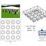 40′ x 40′ Tent Layout Click to Enlarge