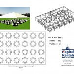 40′ x 60′ Tent Layout Click to Enlarge
